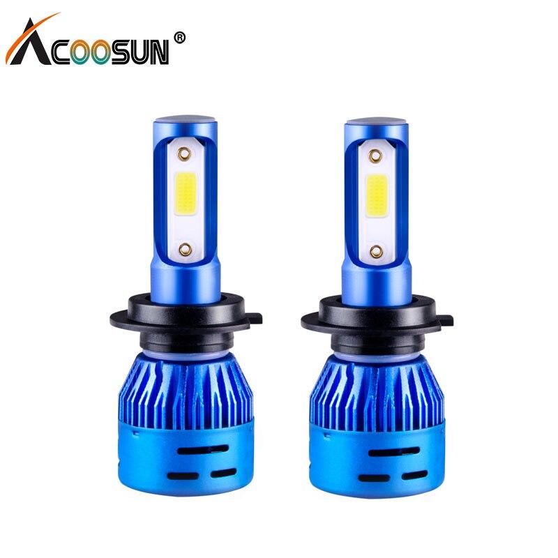 AcooSun LED H7 Faros delanteros para automóviles H4 H1 H3 H8 / H11 - Luces del coche