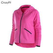 2016 women autumn sport running coat jacket fitness run Hoodie Zip shirt Long sleeved jacket