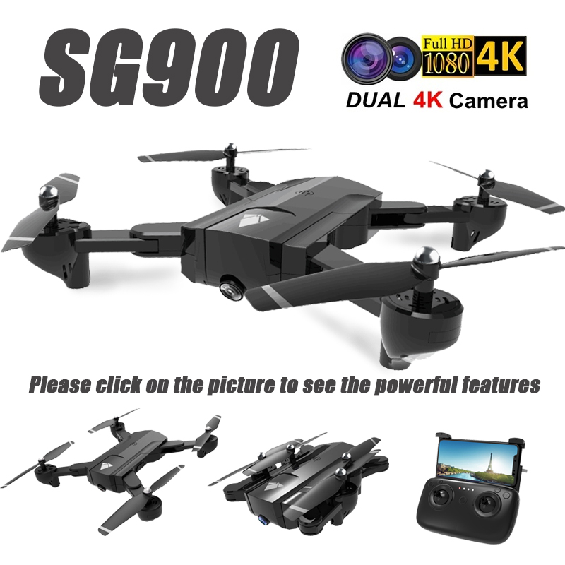 SG900 Wifi RC Drone With 720P 4K HD Dual Camera GPS Follow Me Quadrocopter FPV Professional Drone Long Battery Life Toy For Kids