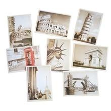 лучшая цена 32PCS/set  NEW Vintage architectural landscape travel card set/Postcard set/Greeting Card/ Zakka childrenGift Card