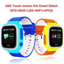 Posición q90 pantalla táctil gps wifi smart watch niños sos de llamada Localizador Rastreador de Kid Safe Anti Perdido Monitor pk Q50 Q80