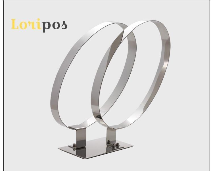 Présentoir de ceinture en acier inoxydable en métal boucle de ceinture simple cercle présentoir de ceinture Double cercle présentoir de ceinture présentoir de Table