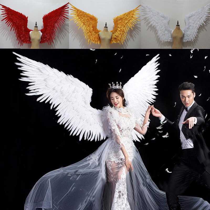 Amazing Gold feather wings for Cosplay photography Angel ...
