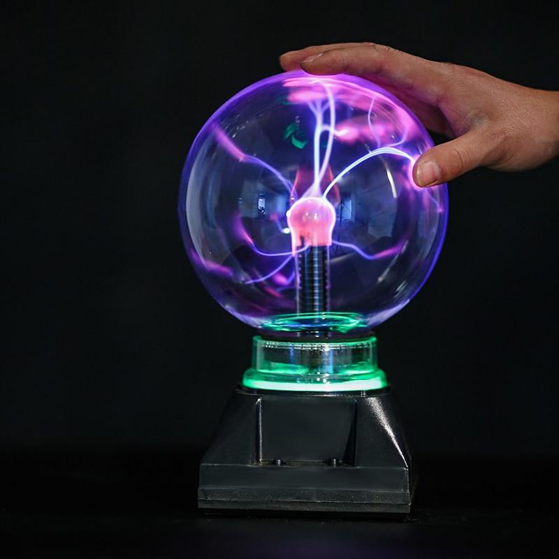 4 Inch 5inch 6inch 8 Inch Lightning-like Falshing Plasma Ball Light Lamp Touch Electrostatic Magic Lamp For Kids LED Nightlight