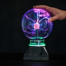 Lampe boule plasma éblouissante de 4 pouces, 5 pouces, 6 pouces et 8 pouces, tactile, lampe magique électrostatique pour enfants, veilleuse LED