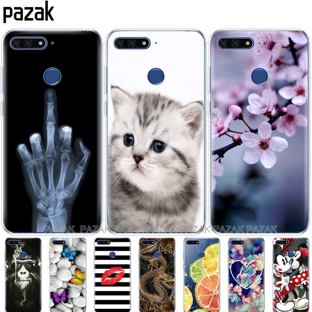 Silicone Phone Case For Huawei Honor 7C 5.7 Inch Case Cover Soft Silicone TPU Cover  Case For Huawei Honor 7c Aum-L41 New Design