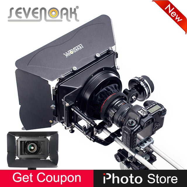 sevenoak sk mb4 aluminum matte box 4 flag kit for 1d3 d90 600d nikon rh aliexpress com Manual Mode Nikon D3100 Nikon D3100 Accessories
