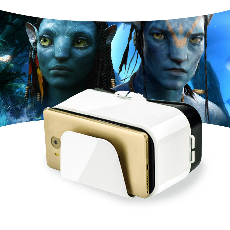 VR Box 3d Headset Virtual Reality Goggles 6 6 inch Screen Googles Cardboard 3D Glasses For