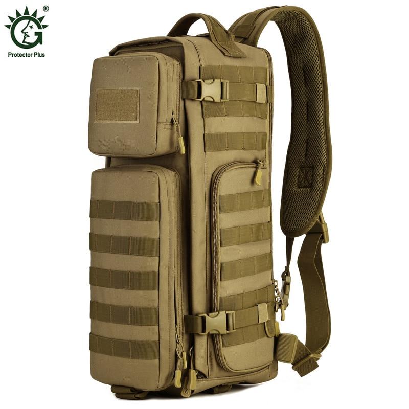 Sac à bandoulière en Nylon pour hommes grand sac à bandoulière de voyage sac à dos de randonnée sacs de messager militaire 2019 paquet de poitrine de l'armée masculine