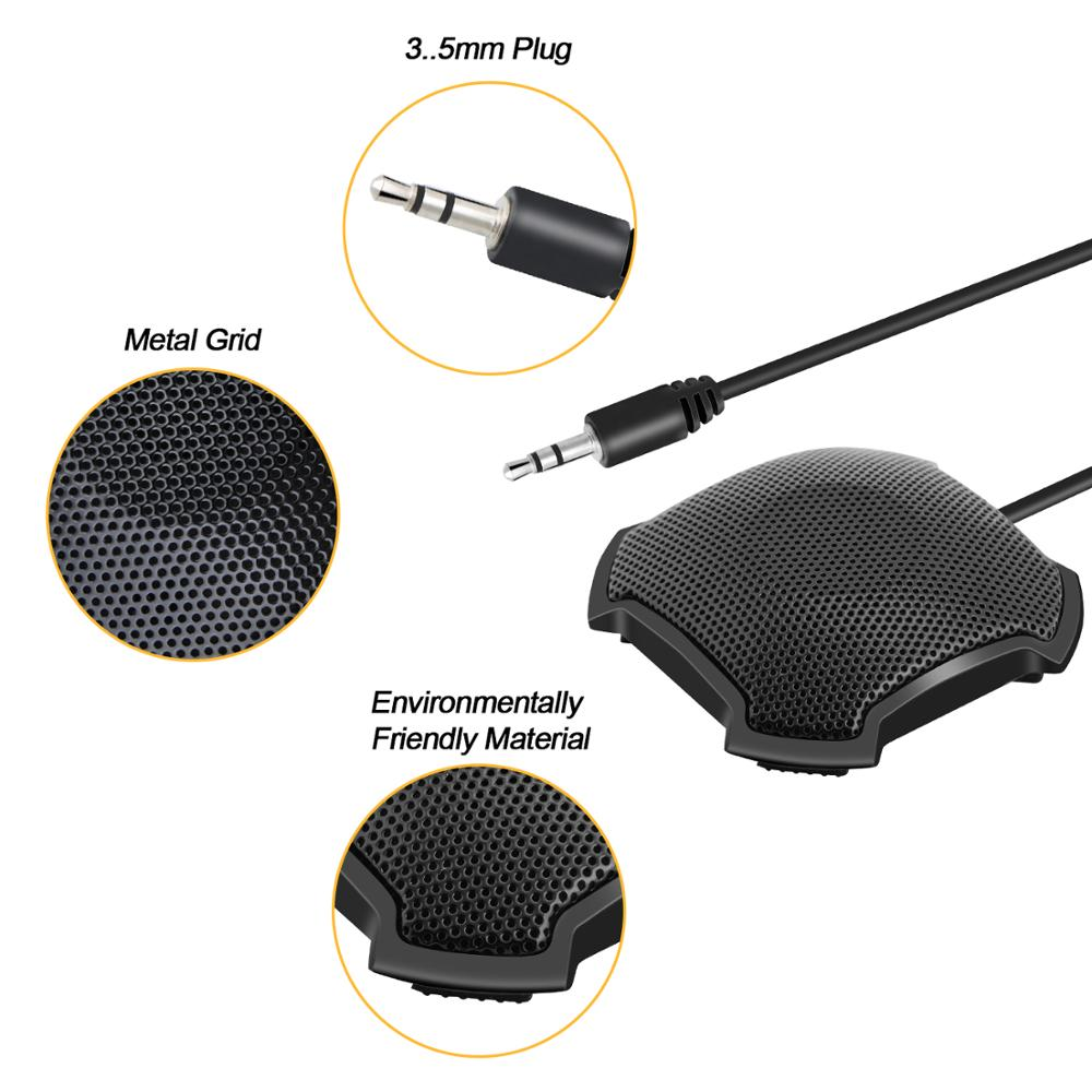 SIZHENG 3 5mm jack video conferencing microphone for PC Laptop Notebook Skype WhatsApp chatting in CCTV Microphone from Security Protection