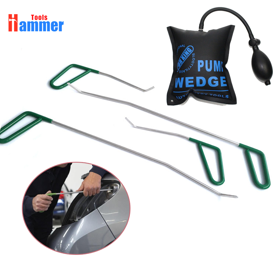 4pcs PDR Rod Dent Repair Tool Car Ding Dent Repair Rod Hook Paintless Hail Removal Tool furuix 32pcs pdr rod hook tool set paintless hail removal auto car ding dent repair whale tails tap down hammer hook wedge