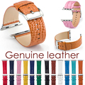 100% Genuine Leather Watchband with Connector Adapter strap for 38MM/42MM Apple Watch Series 1 Series 2 Belt for iWatch Bracelet