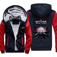 Trò Chơi mùa đông Unisex Jacket The Witcher 3 Hoang Dã Hunt Wolf Head In Hoodies Siêu Ấm Zip Người Đàn Ông Phụ Nữ Áo Khoác N