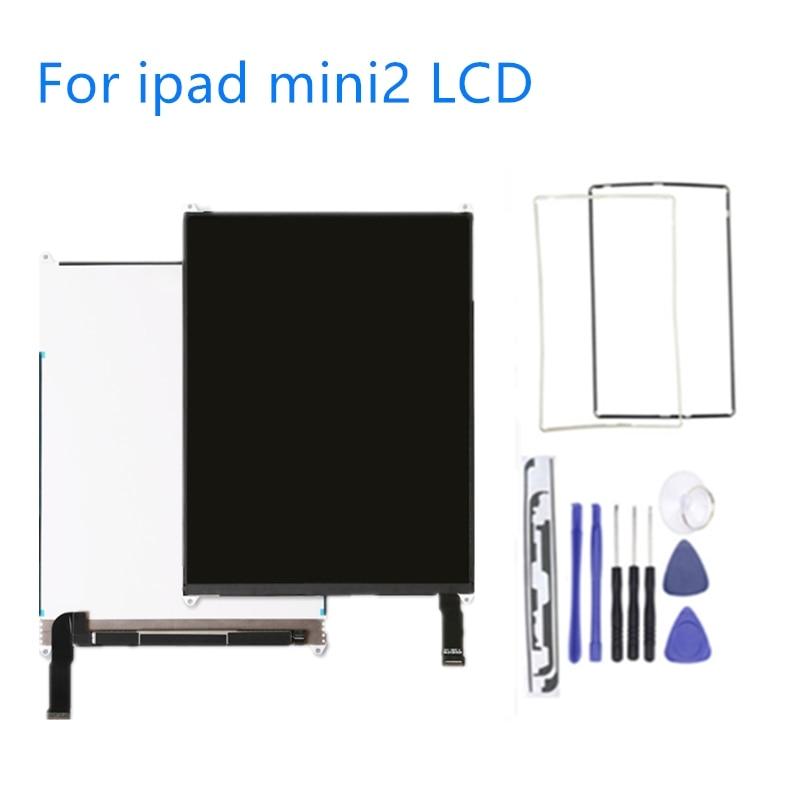 Écran testé pour ipad mini A1432 A1454 A1455 écran LCD pour ipad mini 2 A1489 A1490 A1491 outils gratuits + autocollant + cadre moyen
