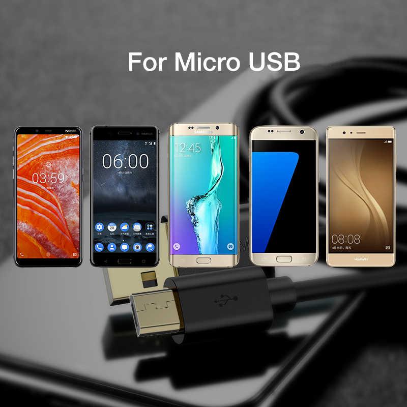 Floveme Usb Cavo Micro Usb 2A Veloce di Ricarica Caricatore di Dati Del Cavo Placcato Oro Connettore Microusb Cabel per Samsung Xiaomi Huawei