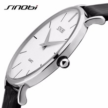 Super Slim Quartz Casual Sport Wristwatch Business Japan SINOBI Brand Leather Analog Best Quartz Watch Men