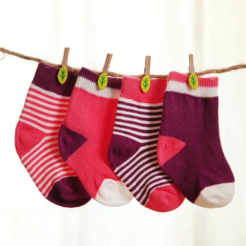 31945079d034 0~24 Month Popular 4 Pairs Socks Set Pure Cotton Baby Boys and Girls Socks  Cotton Socks Newborn