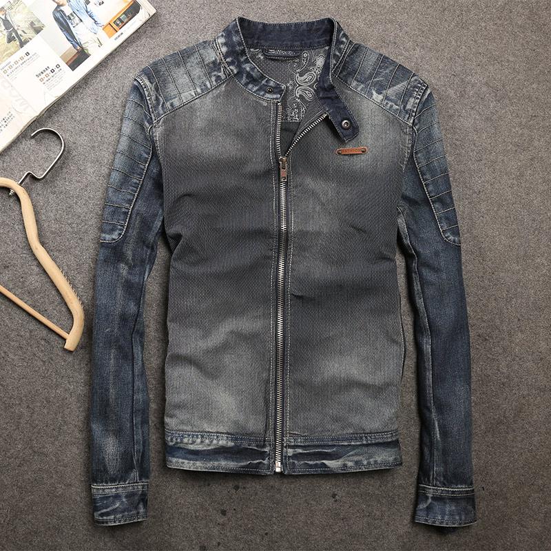 new tide male pack 2017 collar men s fashion leisure original denim jacket zipper cowboy coat