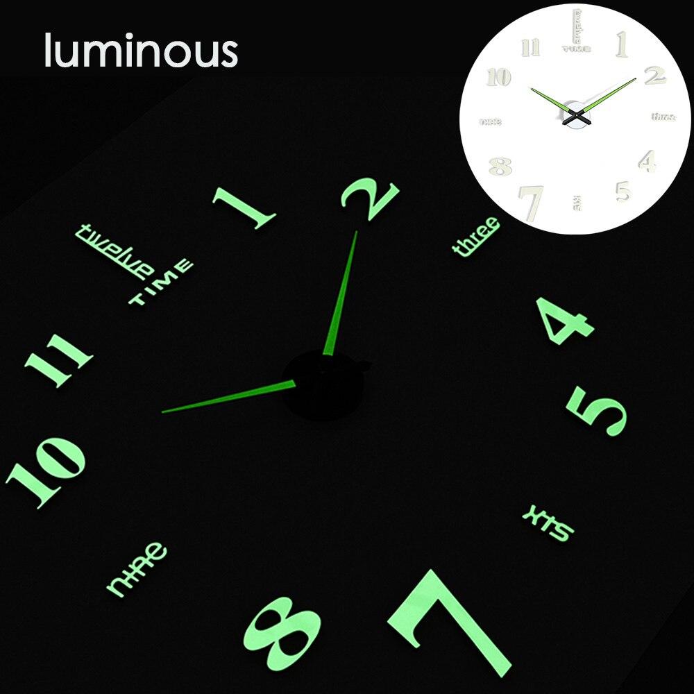 27 различных дизайнов светящиеся настенные часы современный дизайн настенные цифровые большие Big3D DIY модные Saat Reloj Horloge klok - Цвет: wall clock 16