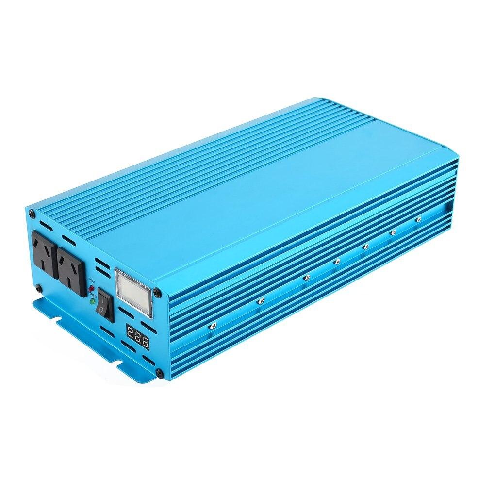 12 В к AC 240 Мощность конвертер Чистая синусоида автомобильный преобразователь напряжения синий алюминий сплав автомобиля зарядное устройст