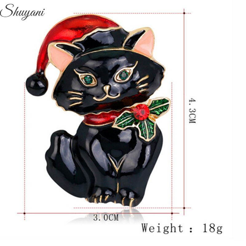 Vintage Metal Cat Brooch Pins Women Men Clothing Accessories Breastpin Suit Brooches Corsage Lapel Pin
