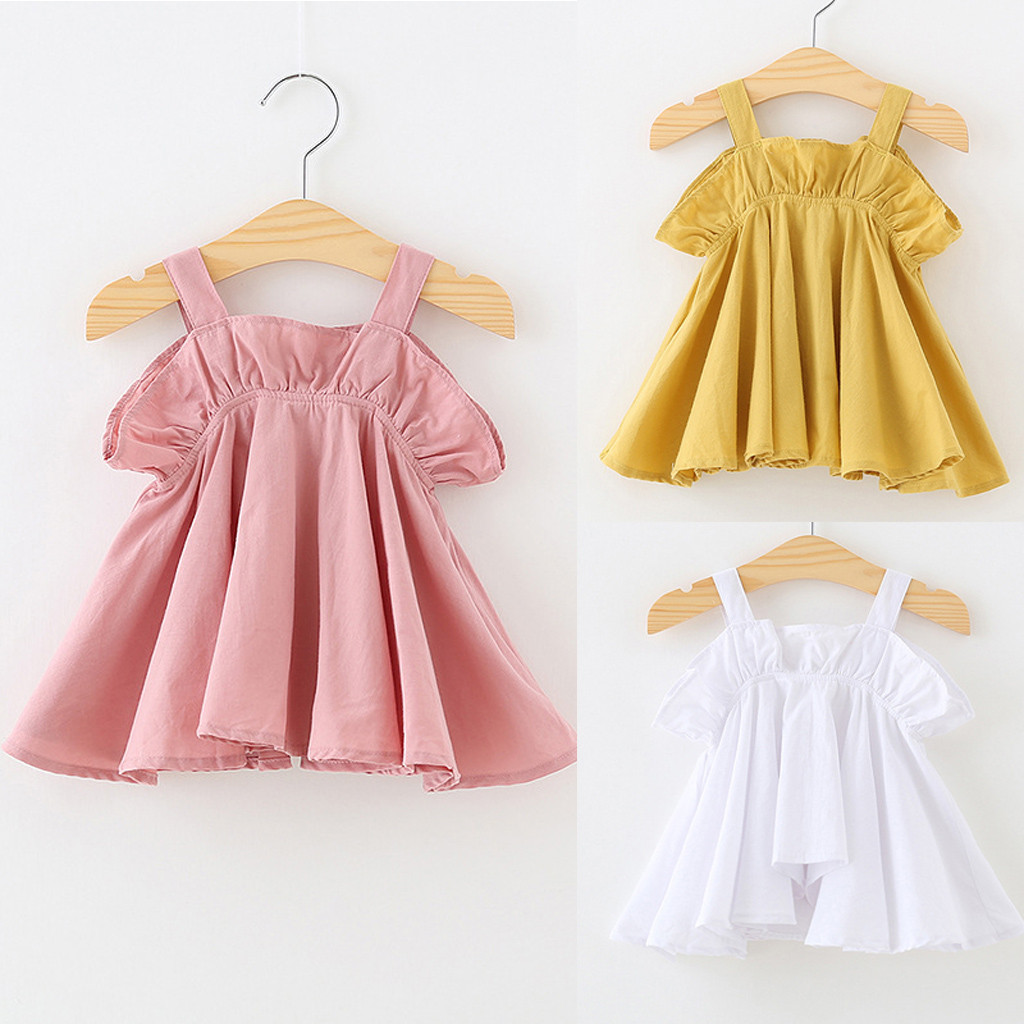Baby Dress 2019 Summer Bow Design Special Design Girl Dress Baby Sleeveless Cute Dress Newborn Baby Yellow Dress Kids Clothes Dresses Aliexpress