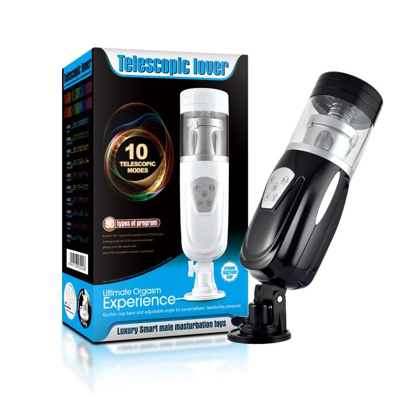 ФОТО EASY LOVE telescopic lover automatic sex machine retractable electric Free Hands male masturbators sex toy sex products for men