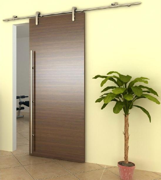 Barn Door Stainless Steel Kitchen Interior Partition Doors Sliding