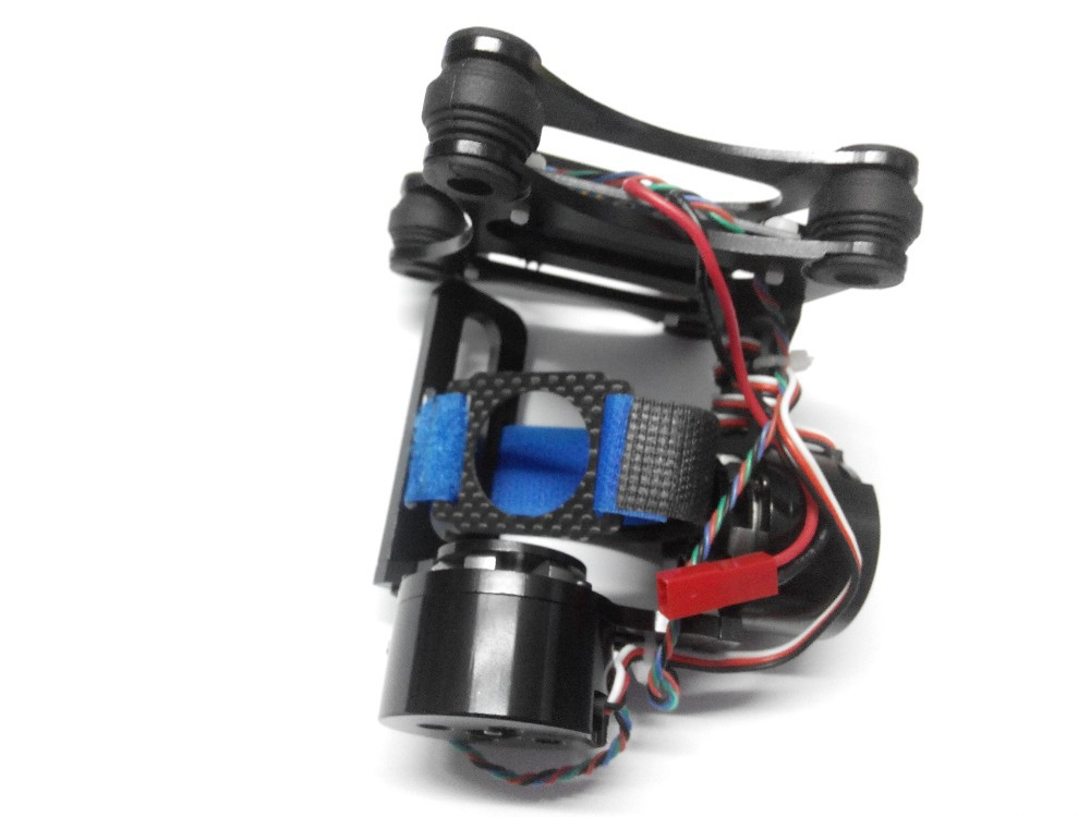JMT Aluminum 2-Axis Gimbal Camera Mount PTZ w/ Brushless Motor Controller for Gopro 2/3 FPV Phantom Black f06918 carbon 2 axis brushless gimbal camera mount w 2 motors controller for gopro 2 3 multicopter fpv