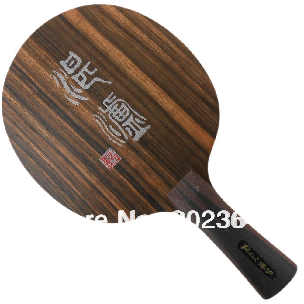 Table Tennis Blade for Ping Pong Racket Palio ZL Zhanlu 5 Wooden / Ebony (Loop+Attack) OFF- racquet sports hrt ebony nct v ebony v ebonyv off table tennis blade for pingpong racket