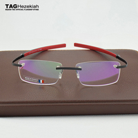 2019 Frameless Eyeglasses Brand TAG Hezekiah Myopia Glasses Frame for Man and Woman TH0341 eye glasses oculos de grau eyewear