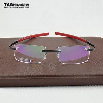 daaa3c57ab 2019 sin marco marca gafas etiqueta Ezequías miopía gafas para hombre y  mujer TH0341 gafas oculos de grau gafas