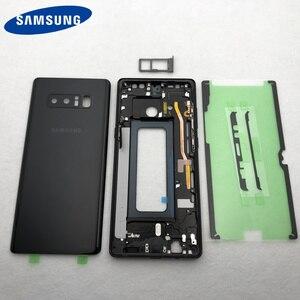 Image 2 - Note8 מלא שיכון Case חזרה כיסוי + מסך קדמי זכוכית עדשה + התיכון מסגרת לסמסונג גלקסי הערה 8 N950 n950F N9500 SM N950F