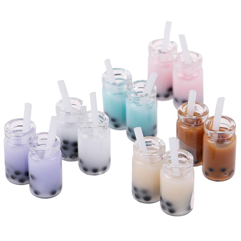 Scale 1/12 Decoration Lemon Water Cup Simulation Lemonade Cup Drink Pearl Milk Tea Model Toy Dollhouse Miniature Accessories