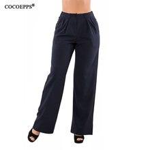 Cocoepps 2018 5xl 6xl mujer verano Pantalones más tamaño Casual suelta  pantalones de pierna ancha elegante tamaño grande alta ci. 49c33234797