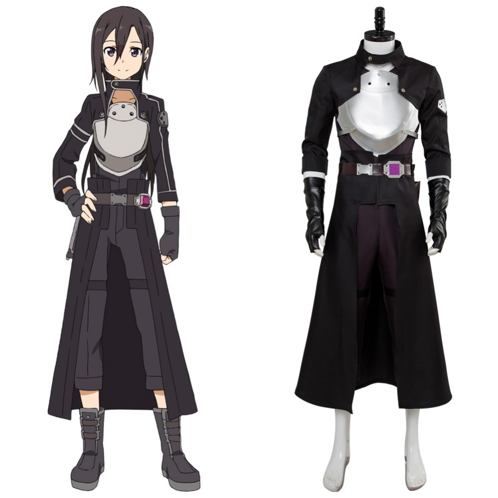Sword Art Online Cosplay Fatal Bullet kirito Kirigaya Kazuto Cosplay Costume Clothes Halloween Carnival Costumes Tailor Made