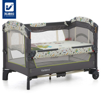 Valdera Can Be Docked With A Baby Bed, Folding Multi function European Style Portable Games, Mosquito Net