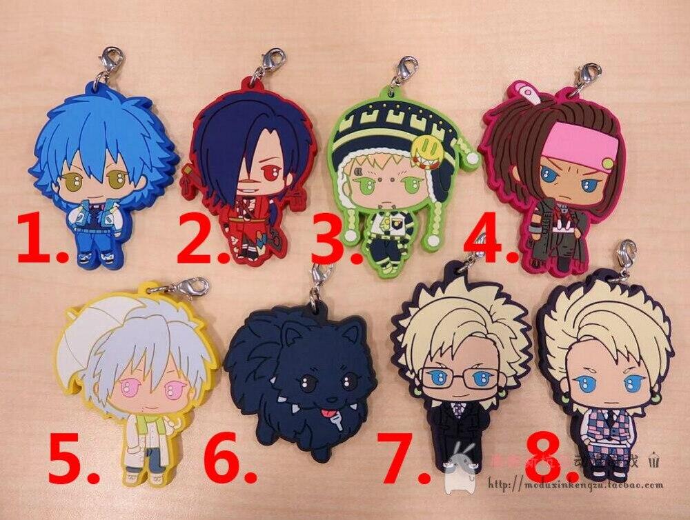 Dramatical Murder Dmmd Seragaki Aoba Noiz Koujaku PVC Pendant Keychain Cosplay 8pcs Lots
