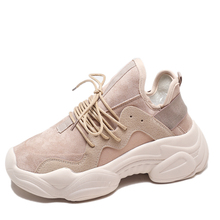 YeddaMavis Lace Up Casual Shoes Women Spring New Platform Sneakers Running Womens Woman Zapatos De Mujer