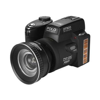 2018 HD JOZQA POLO D7300 Digital Camera 33Million Pixel Auto Focus Professional SLR Video Camera 24X Optical Zoom 3 HD Lens 1