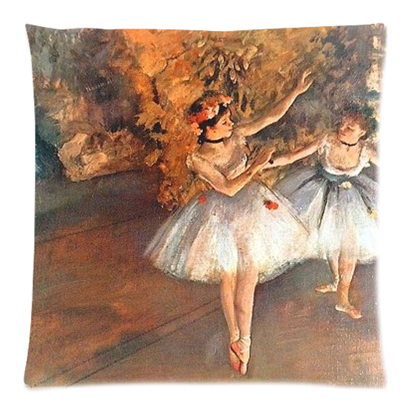 Edgar Degas Ballet Dance Painting Decorative Cushion Cover