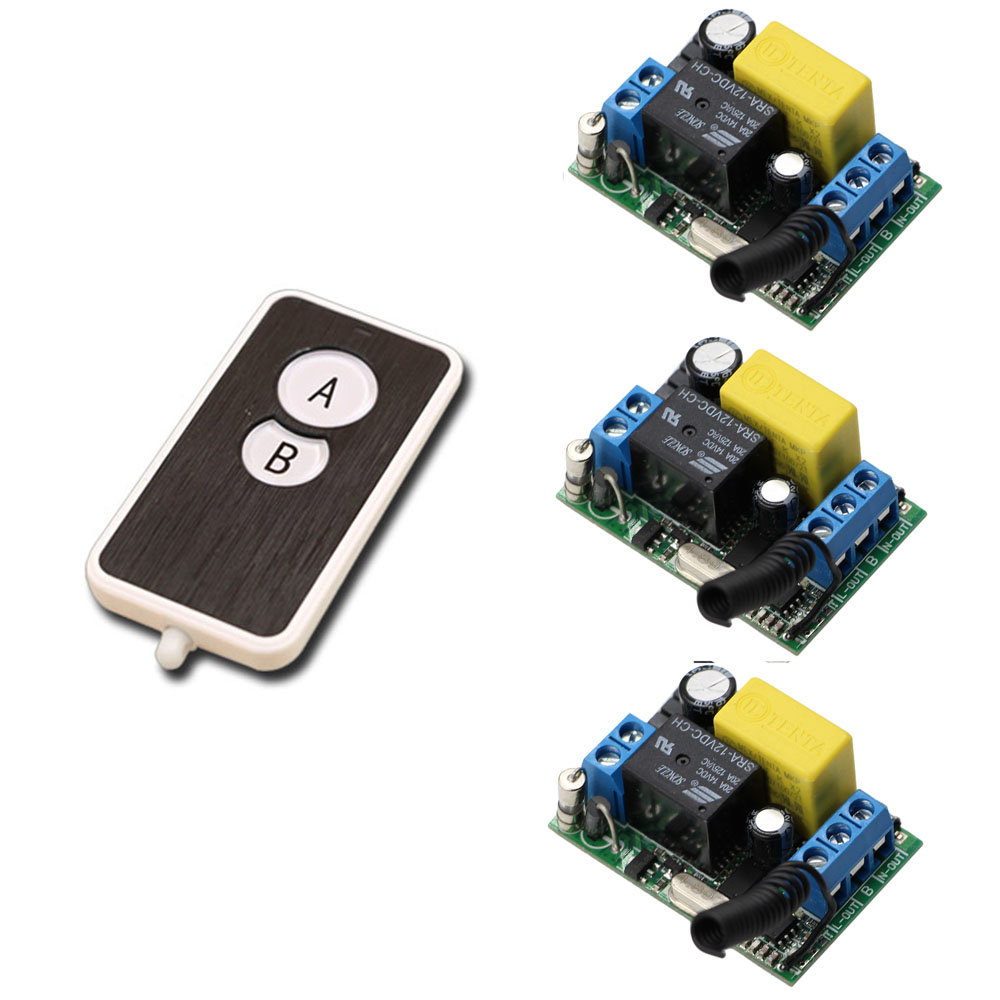 AC220V RF Wireless Mini Switch Remote Control Switch Relay Receiver Remote Controllers For Light switch Transmitter 315/433Mhz ac 250v 20a normal close 60c temperature control switch bimetal thermostat
