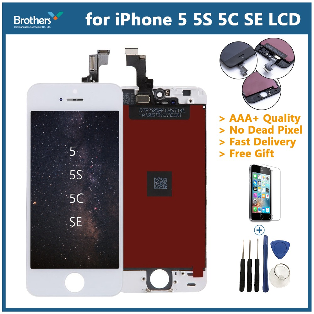 AAA Screen For <font><b>iPhone</b></font> <font><b>5S</b></font> 5 <font><b>LCD</b></font> Display Assembly <font><b>Original</b></font> For <font><b>iPhone</b></font> <font><b>5S</b></font> <font><b>LCD</b></font> Digitizer Touch Screen MobilePhone Replacement Parts image