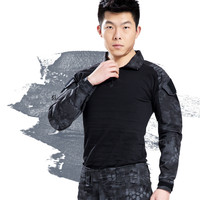 Military Uniform Multicam Army Combat Shirt Black For Men Camouflage America Tactical Shirts Frog Clothing