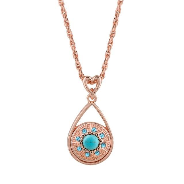 Rose Gold Silver Color Snap Pendant Necklace Match Buttons DIY