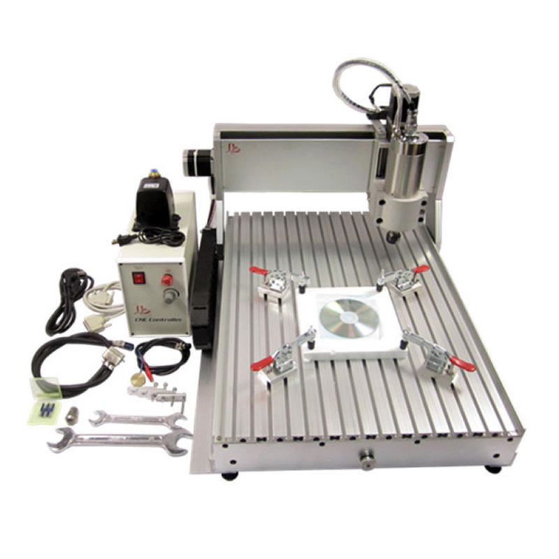 2200W 3 Axis CNC Engraver Engraving Machine 6040 CNC Router with tested well for metal aluminum Bronze Wood stone PCB free ship cnc milling machine 4 axis cnc router 6040 with 1 5kw spindle usb port cnc 3d engraving machine for wood metal