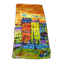 100 Silk Scarf Van Gogh Artist Oil Painting Long Silk Scarf Hot Selling High Quality All
