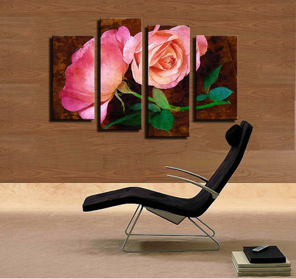 paintings painting red hd lamdeps art wall com home z a piece picture print canvas decor modern unframed flowers