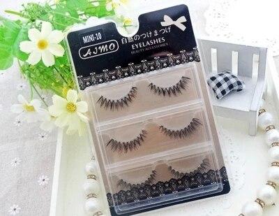 3 pairs/set Cross Thick False Eye Lashes Extension Makeup Super Natural Long Fake Eyelashes Fiber Transparent Stem reuse lashes