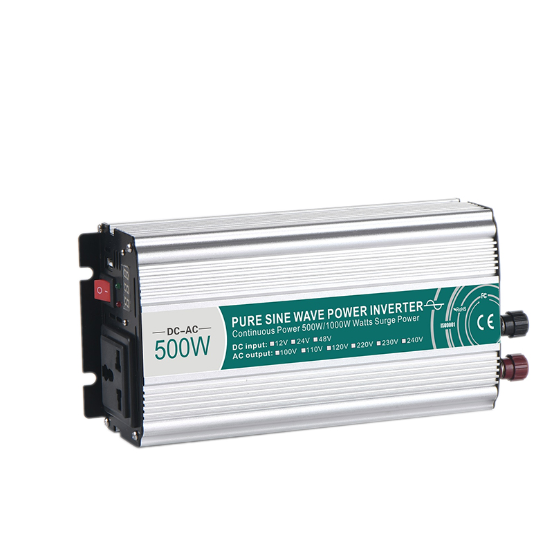500W Pure Sine Wave Power Inverter Input 12/24/48VDC To Output 110/220VAC Household Vehicle Solar Energy Voltage Converter500W Pure Sine Wave Power Inverter Input 12/24/48VDC To Output 110/220VAC Household Vehicle Solar Energy Voltage Converter